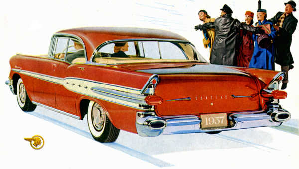 '57 Star Chief 4-door hardtop, red+white