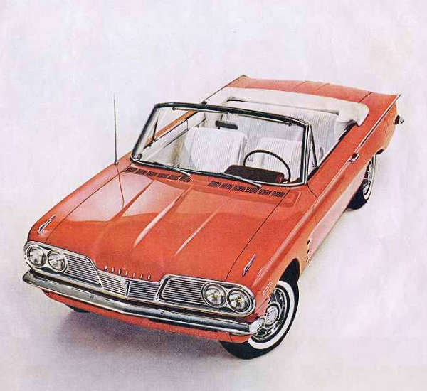 1962 Pontiac Tempest convertible, red with white interior
