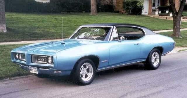 1968 Pontiac GTO Factory Paint Colors